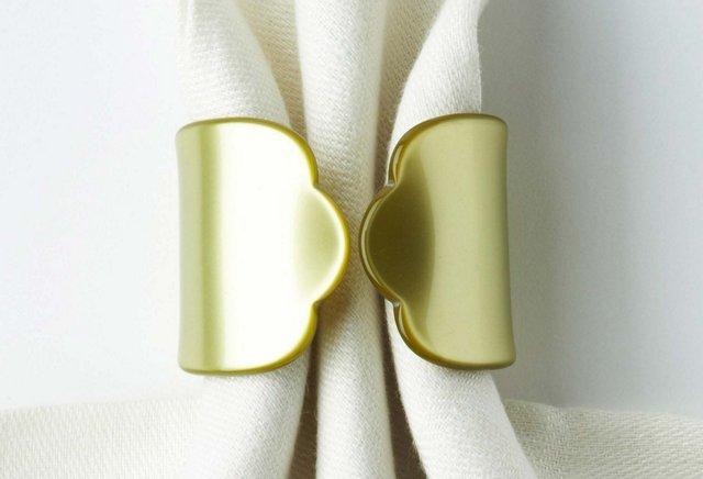 S/4 Napkin Rings, Moss
