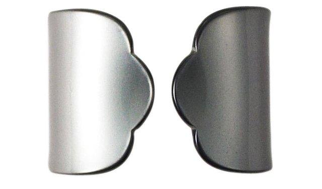 S/4 Old-Fashion Napkin Rings, Dark Gray