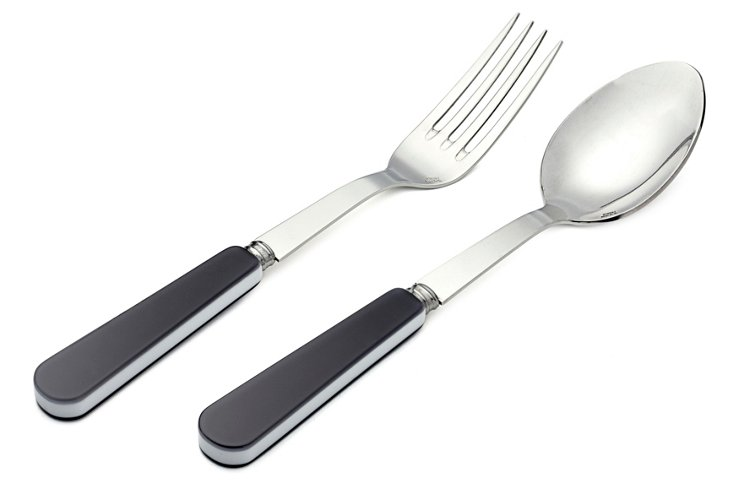 2-Pc Duo Serving Set, Dark Gray