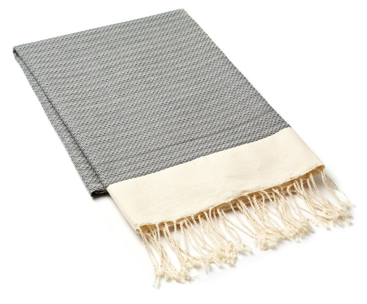 Fouta Chine Solid Towel, Grey