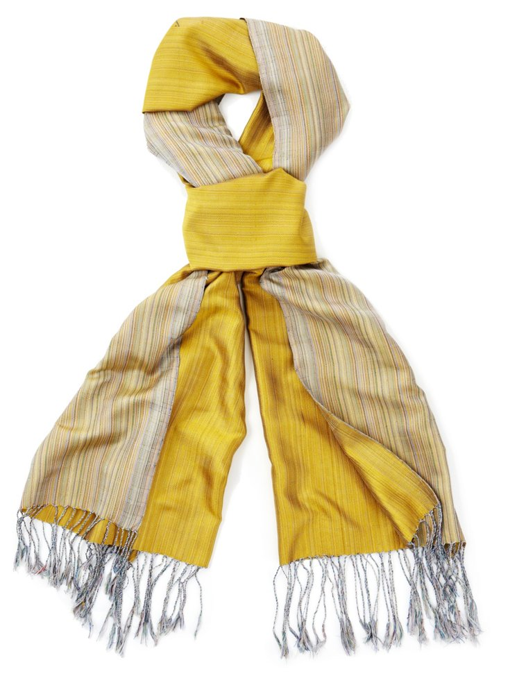 Silk Chine Scarf, Gold