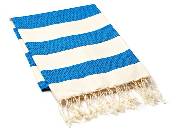 Fouta Chine Striped Towel, Blue