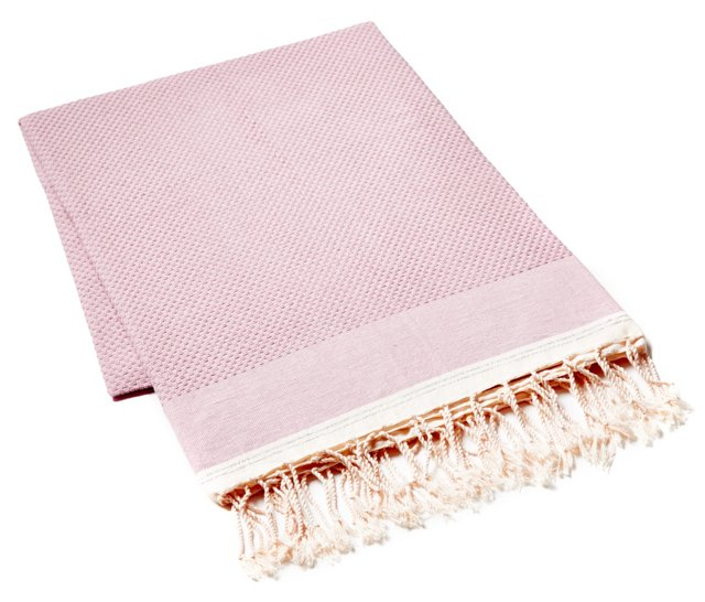 Fouta Metallic Towel, Soft Lilac