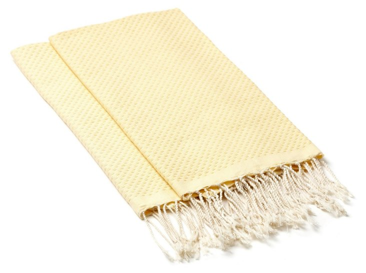 S/4 Fouta Hand Towels, Straw