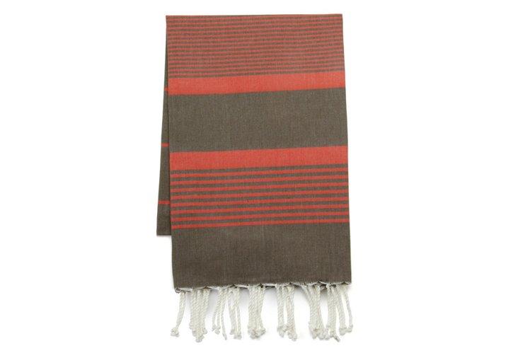 Group of Stripes Fouta Towel, Khaki/Org