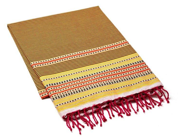 Fouta Multi Striped Towel, Gold