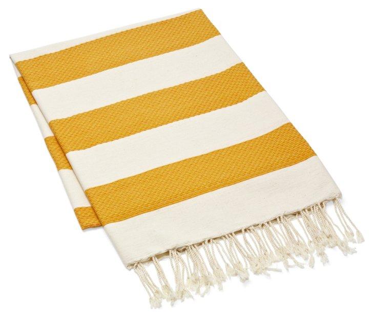 Fouta Chine Striped Towel, Orange