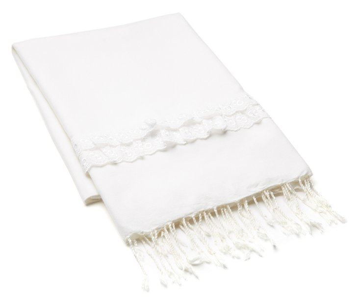 Lace Fouta, White