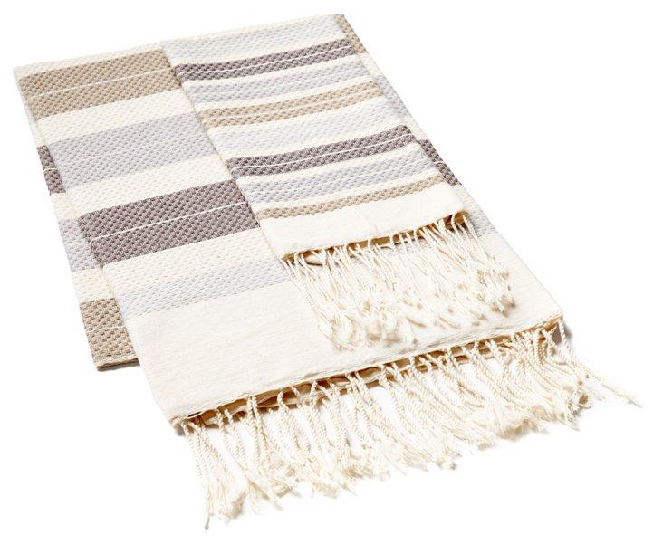 Fouta & Hand Towel, Multi/Beige