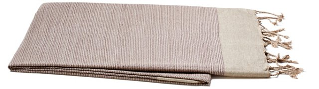 Tweed Cotton Throw, Eggplant