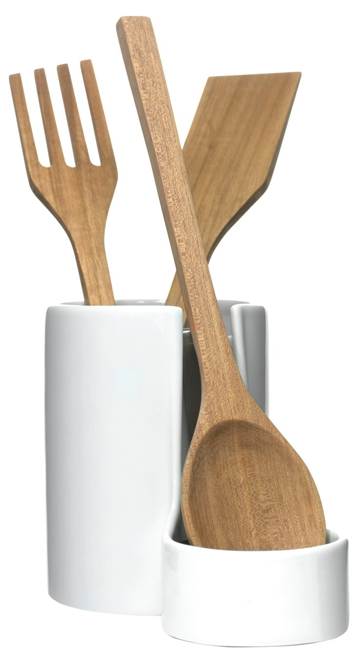 Utensil Jar w/ Removable Spoon Rest