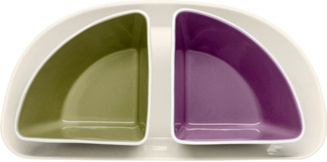 Taste Serving Plate with 2 Bowls