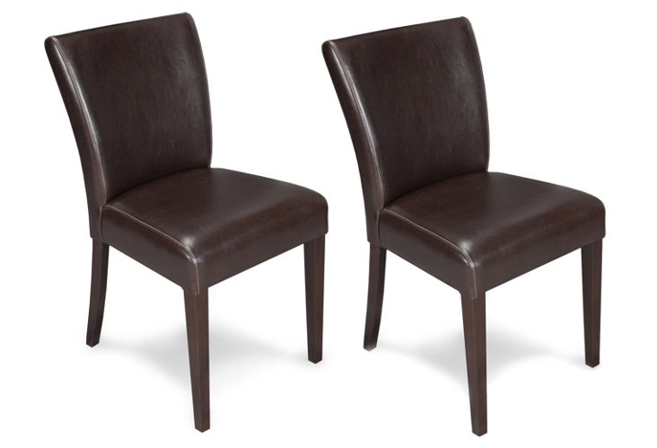 DNU,OFlared Back Side Chair, Pair