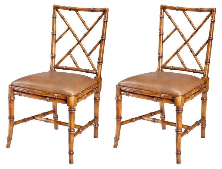 Lund Side Chairs, Pair