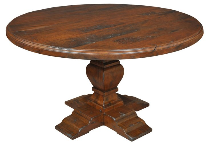 "DNU,OAvesta 60"" Pedestal Table"