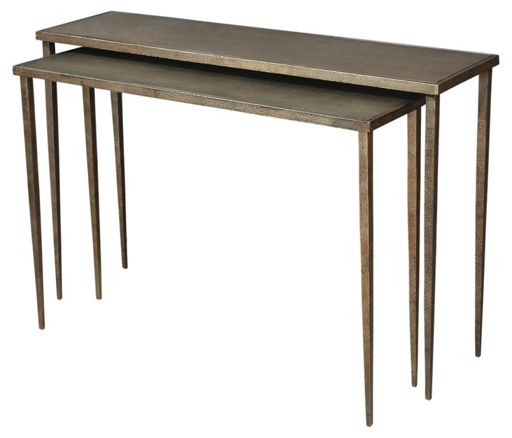 Pia Nesting Console Tables, Set of 2