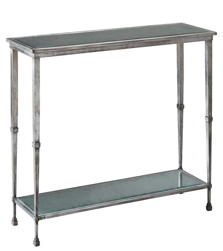 """Parsons 36"""" Console Table, Silver"""