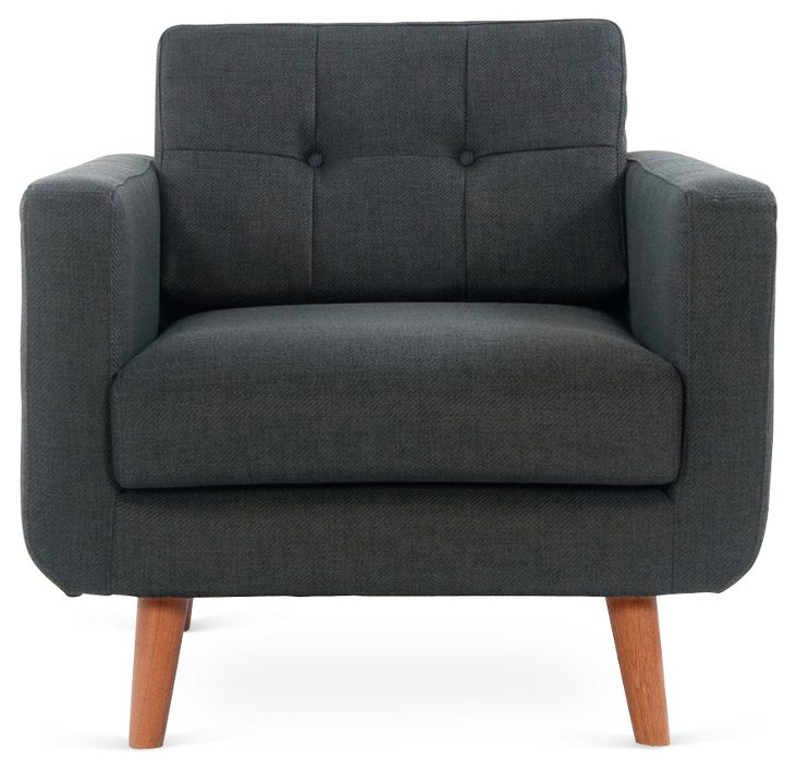 Agnes Chair, Charcoal