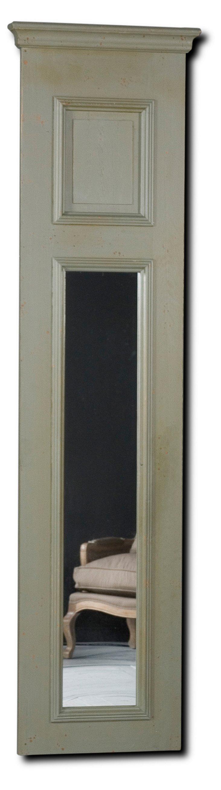 Anna Panel Mirror, Rustic Gray