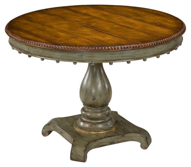 """Sophia 42"""" Dining Table, Sage/Chestnut"""