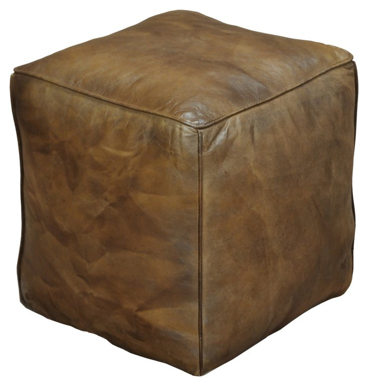 DNU,OLeather Cube Footrest