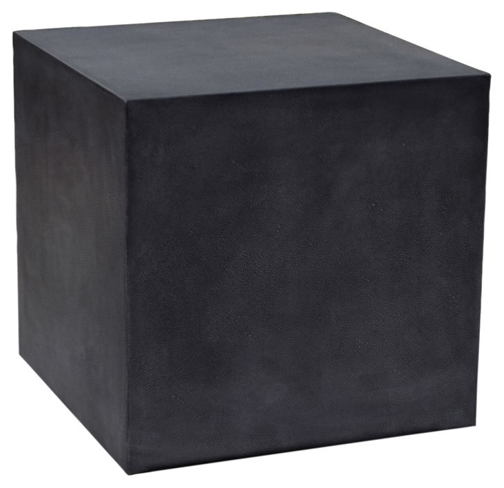 Shagreen Cube Side Table