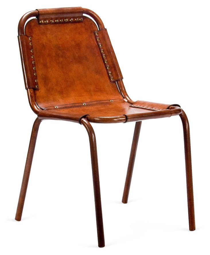 DNU,OWrapped Leather Chairs, Pair