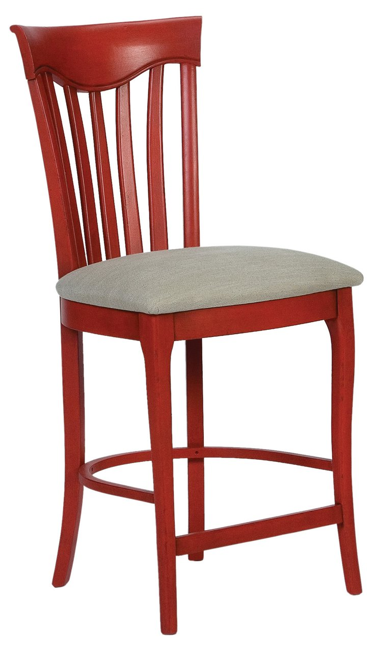 Elyse Counter Stool, Red