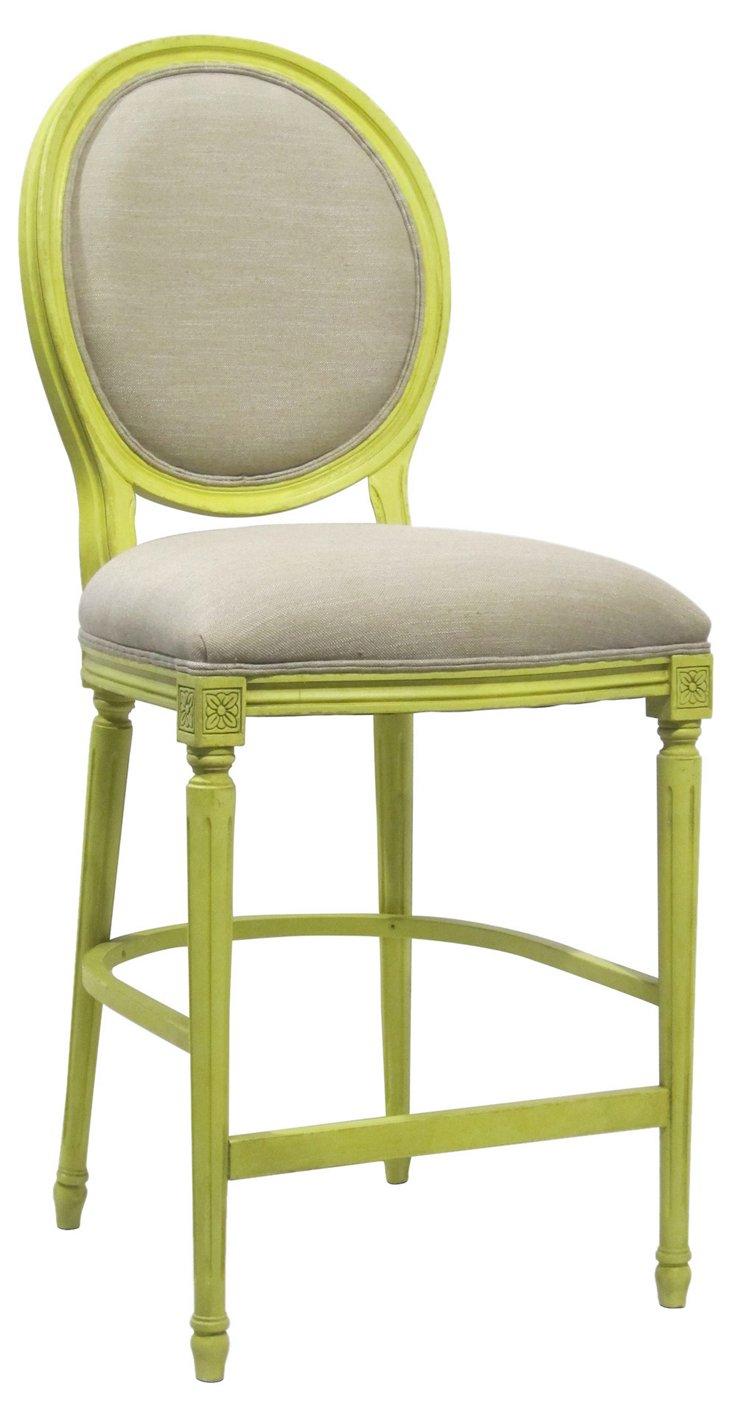 Louis XVI Counter Stool, Lime