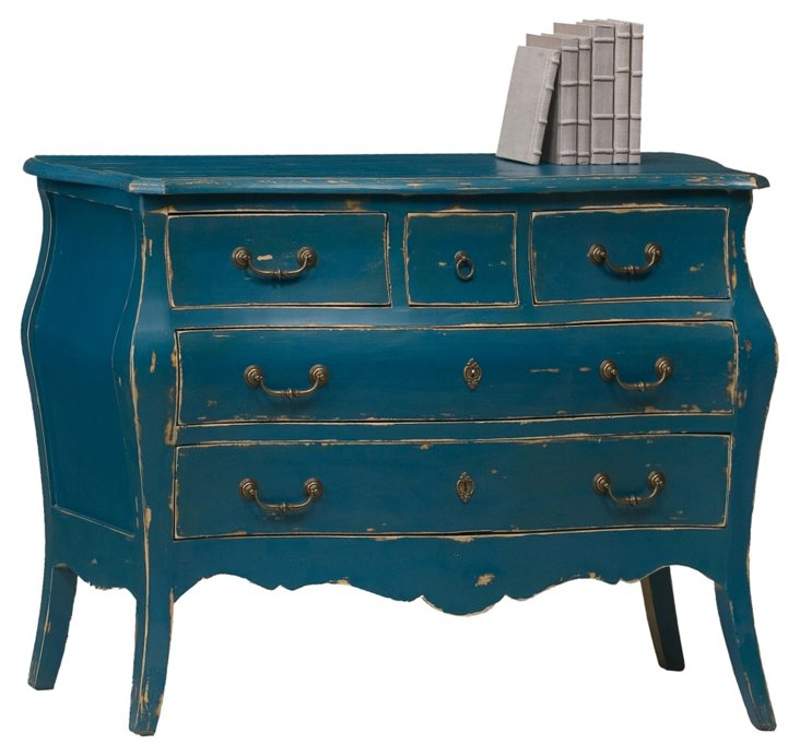"""Nottingham 50"""" Distressed Chest, Teal"""