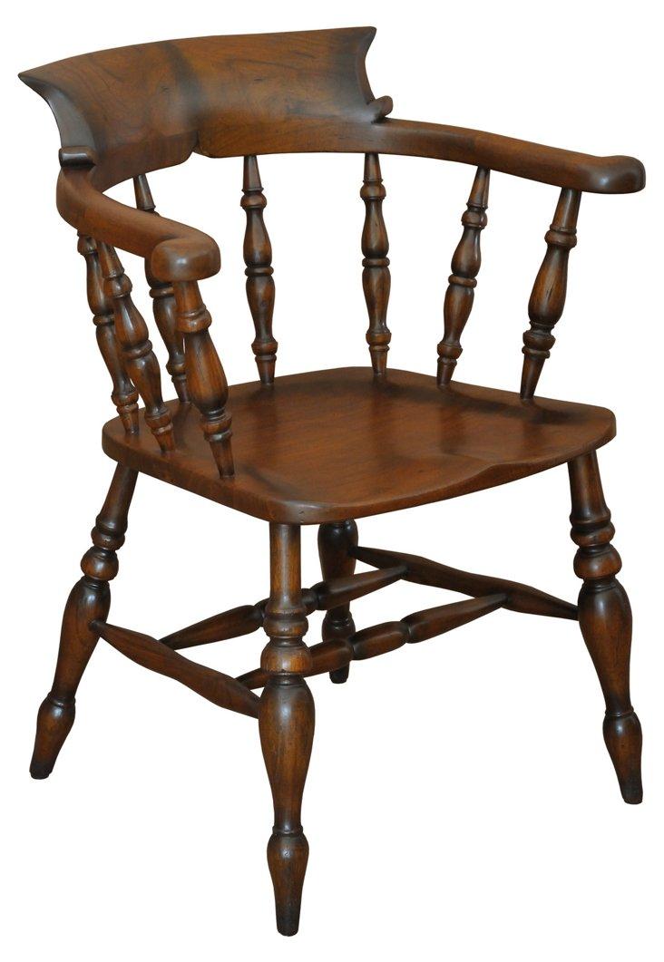 Franklin Walnut Armchair, Caramel