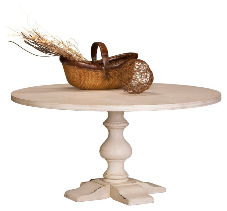 "Aldo Round 60"" Dining Table, White"