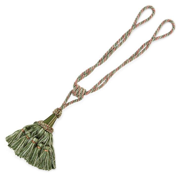 Soliste Single Tassel Tieback, Green