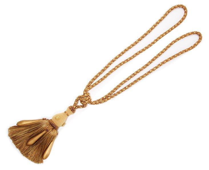 Biedermeier Tassel Tieback, Gold