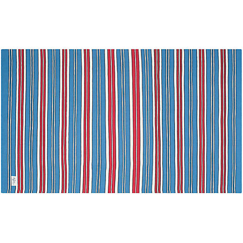 Racing Stripe Point Rug