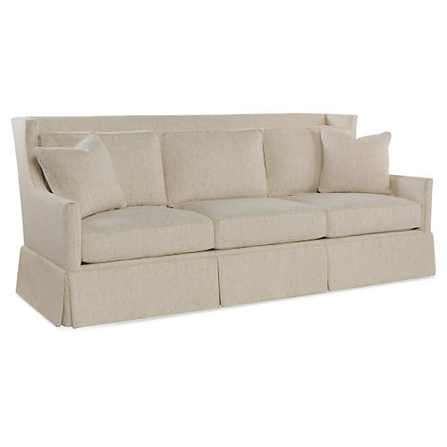 "Pacific 89"" High-Back Sofa, Ivory"