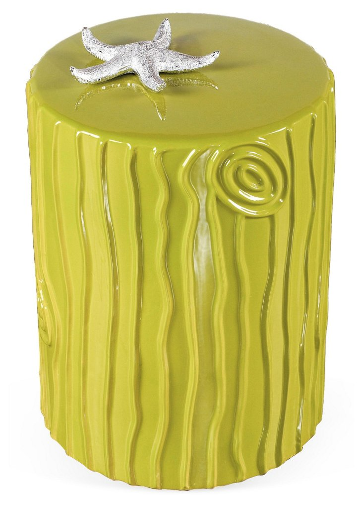 Verte Stool/Side Table, Bright Green