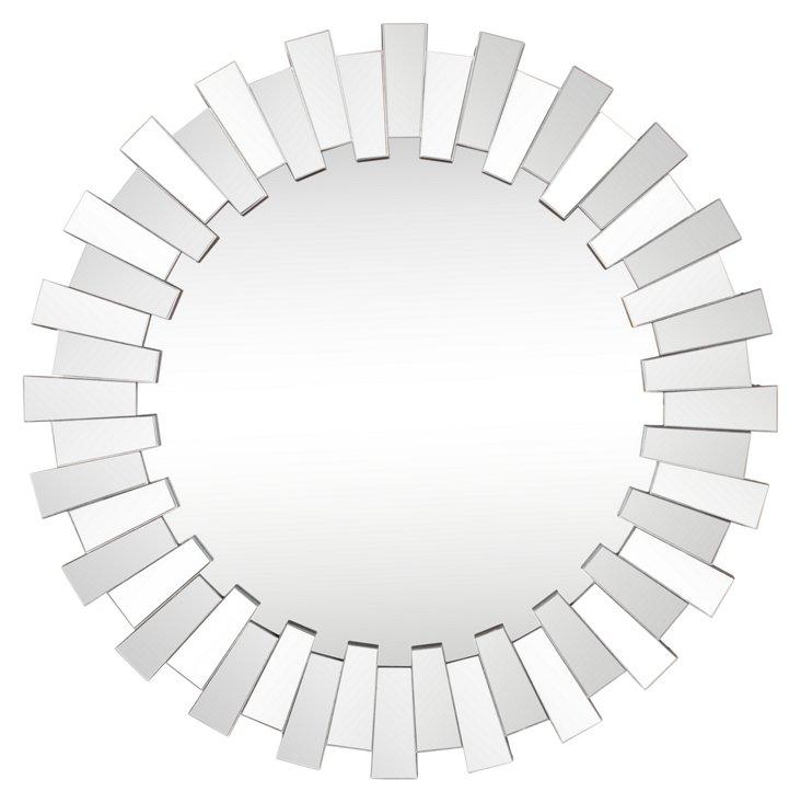 Molly Wall Mirror, Silver