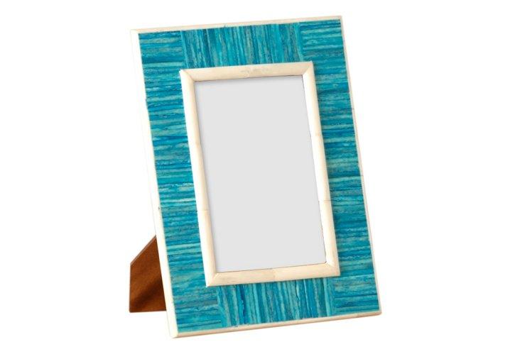 Turquoise Slatted Frame, 4x6