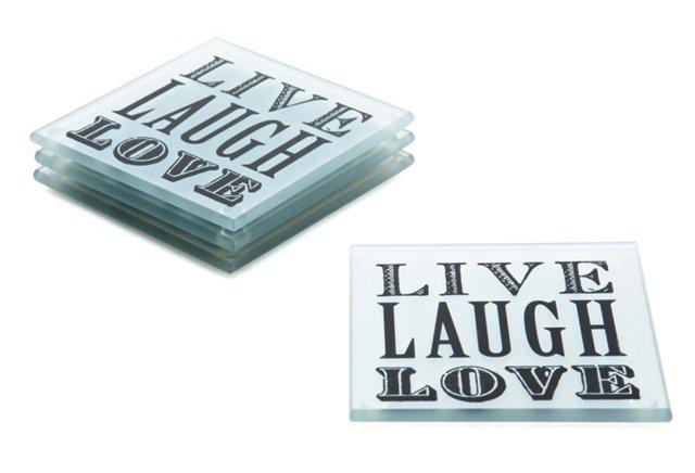 "S/4 ""Live Laugh Love"" Coasters"