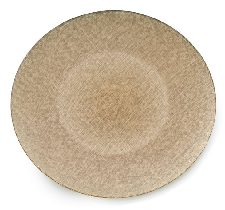 Lino Serving Platter, Gold
