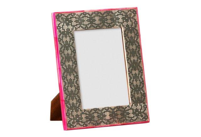 Block Picture Frame, 5x7, Black/White