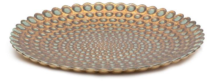 Pearl Plate, Antique Copper