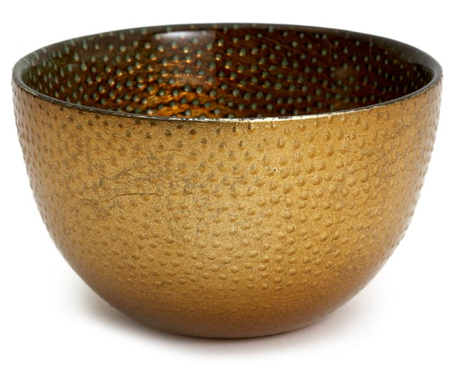 Babylon Small Bowl, Antique Copper