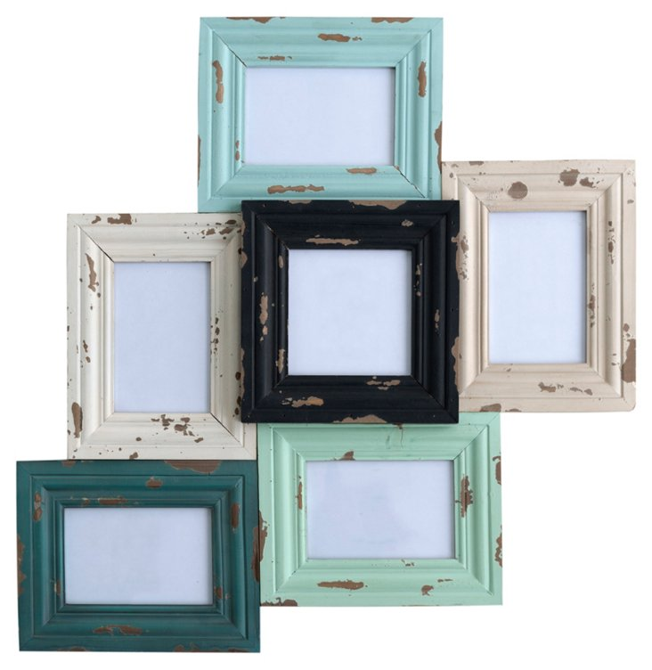 "22"" Bristol Collage Frame, Seafoam"