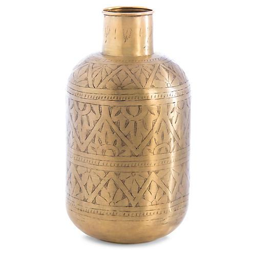 "15"" Ferdi Vase, Brass"