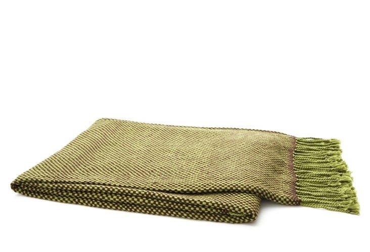 Lanka Throw, Green/Brown