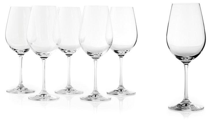 S/6 Viola Wineglasses