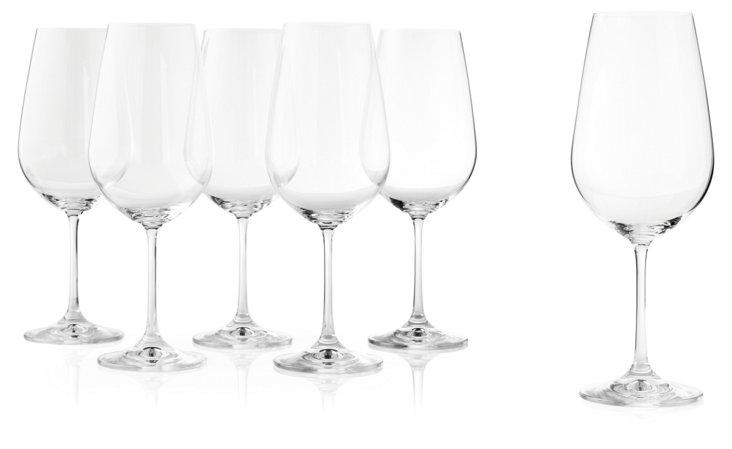 S/6 Viola Red Wine Glasses