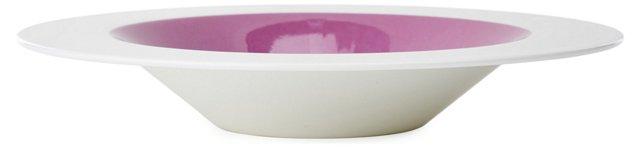 S/4 Bandy Rim Soup Bowls, Violet